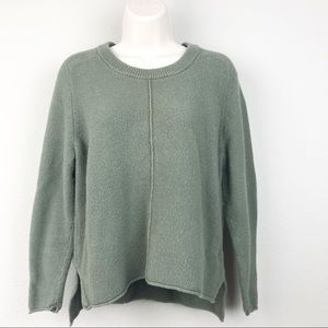 Madewell Seed Stitch Olive Green Crop Sweater